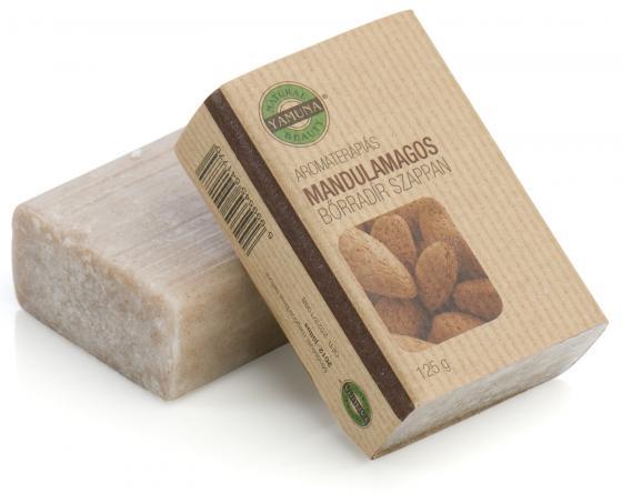 Yamuna - Mandlové abrazivní mýdlo 125g - mýdlo lisované za studena