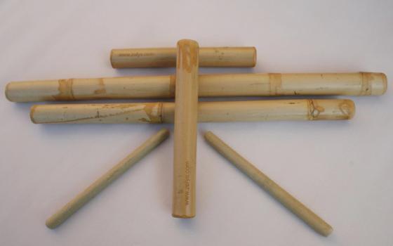 Bambusový masážní set 6 ks - nářadí na bambusovou masáž