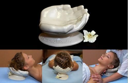 CRADLING HANDS - Keramická kolébka pro hlavu (pro pohodlnější masáž šíje v leže)