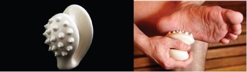 TOUCH DOWN FEET - Pomocník na masáž chodidel a dlaní (pro reflexní masáž chodidel a dlaní)